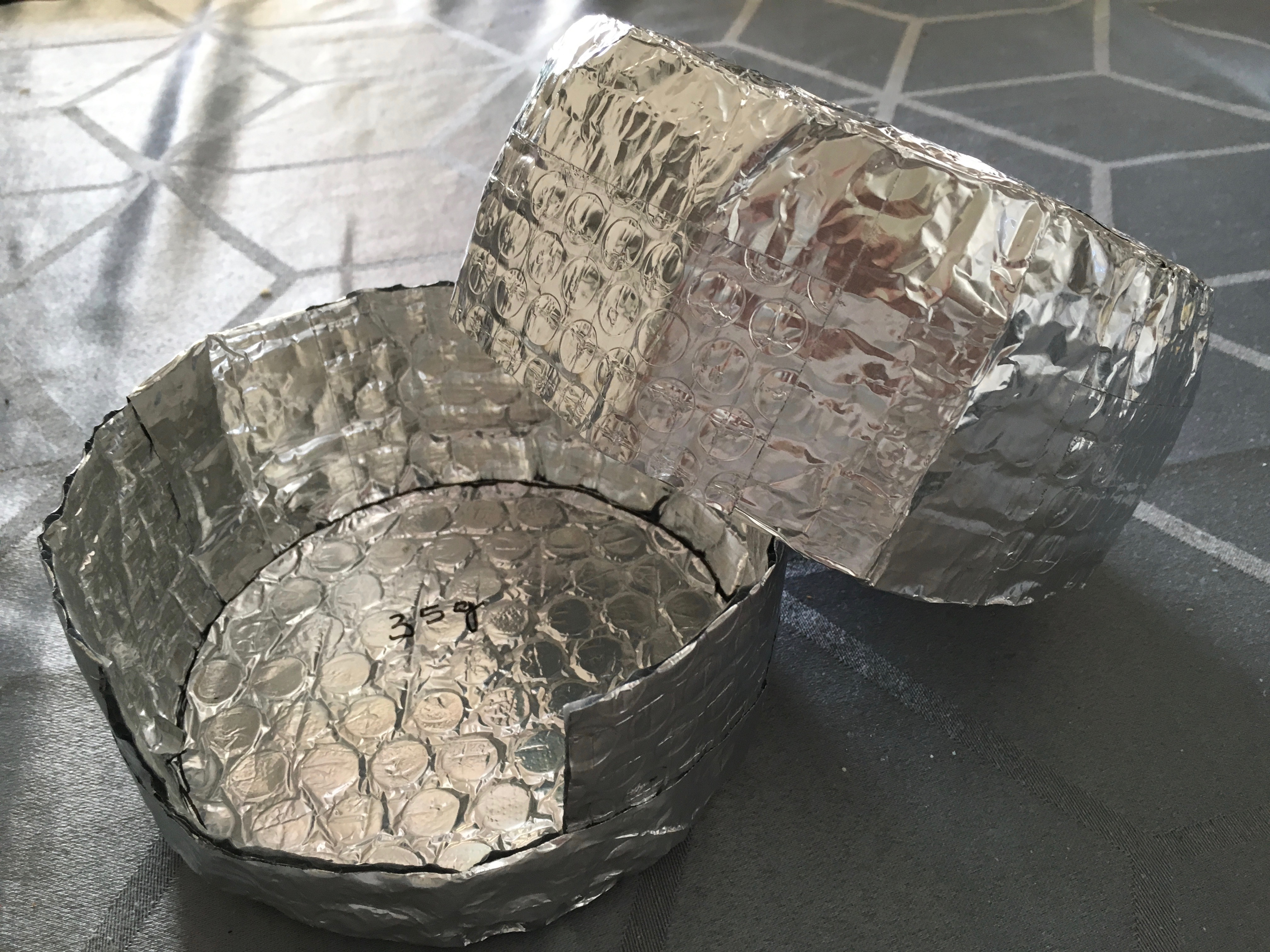DIY cozy for Evernew Ti Ultra Light Pot (0.9 L) 35 g