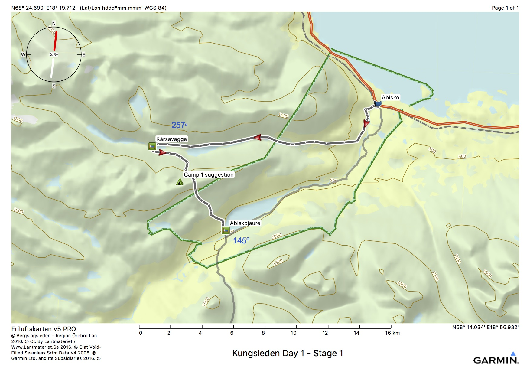 Kungsleden Day 1 - Stage 1