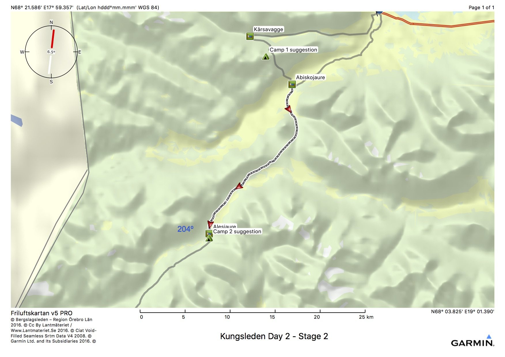 Kungsleden Day 2 - Stage 2